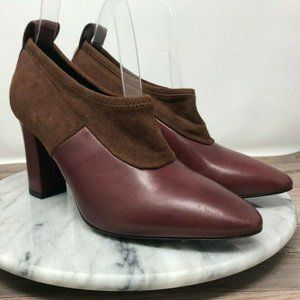 Via Spiga Bayne Burgundy Solid Vamp Pumps